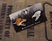 Fox life & death lapel pin set