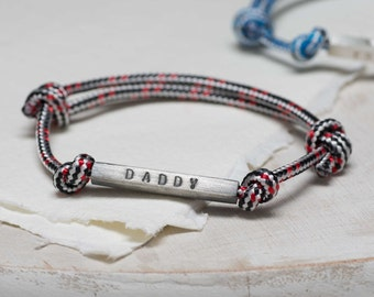 Men's Identity Bead Bracelet|Men's Personalized Bead Bracelet|Personalised identity bracelet|Gift for daddy|Father's Day gift|Id cord bead