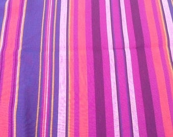 Vintage fabric - colorful stripes