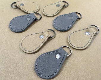 Military Leather Bootscuff Keychain - Handmade