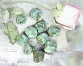 clay beads,handmade beads,artisan beads,organic beads, 10 loose beads,   # 152