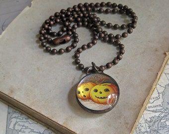 Halloween Glass Bubble Pendant Stained Glass Jewelry