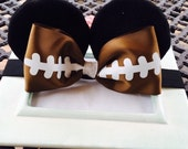 Baby Minnie Ears Girls Stretch Headband Sports Football Bow Mouse Ears Band Photography Prop