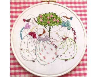 Rosie Posie Stitchery hand embroidery pattern instant download
