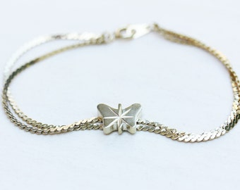 Butterfly Bracelet - Silver or Gold Plated