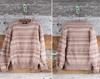 Jantzen wool sweater / vintage fair isle sweater / unisex