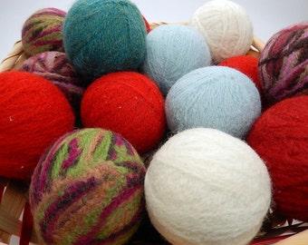 Wool Dryer Balls/6 Wool Dryer Balls/ Felted Dryer Balls/Felted Wool Dryer Balls/Dryer Balls/100% Wool Dryer Balls/