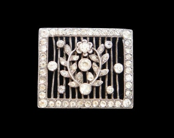 Rhinestone Bracelet or Necklace Slider in Silver with Rhinesstones