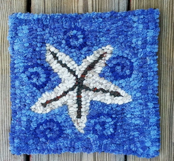 Beginner Starfish Primitive Rug Hooking Kit By