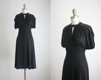 1970s rhinestone dress