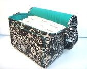"""Large 4"""" Size Coupon Organizer / Coupon Bag Budget Holder Box Attaches to Your Shopping Cart Black with Dots with in Dots -Select Your Size"""
