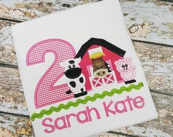 Barnyard Farm Animal Birthday Shirt