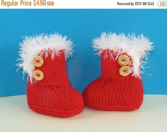 HALF PRICE SALE Instant Digital File Pdf Download Knitting Pattern - Baby Christmas Sn-Ugg Boots pdf download knitting pattern by madmonkeyk