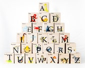 Modern Animal ABC Blocks - alphabet kid block toy