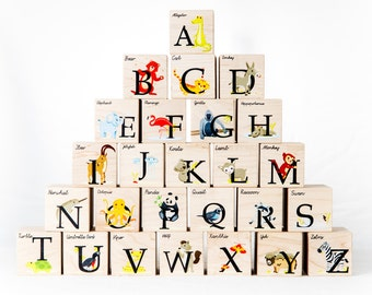 Alphabet Blocks - animal alphabet kid block toy