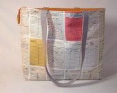 PREORDER Vintage Library Cards Zippered Tory Tote Limited Edition