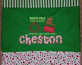 Custom Personalized Christmas Special Delivery Santa Sack Gift Bag