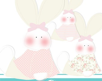 My Little bunny cliparts - COMMERCIAL USE OK