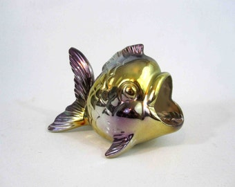 Vintage Ceramic Koi Fish Ashtray. Made in Japan. 1960's.