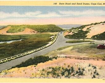 Vintage Cape Cod Postcard - Sand Dunes (Unused)