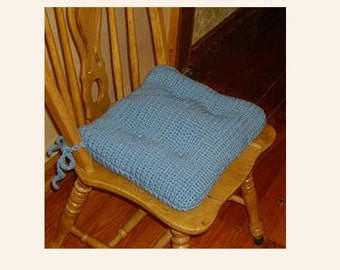 Cushion Pattern Blue Chair Dining Crochet French Country