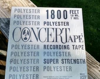 NIB unused shrink wrapped RadioShack CONCERTape circa 1950 reel-to-reel tape