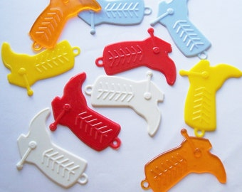 10 Flat Cowboy Boot Charms