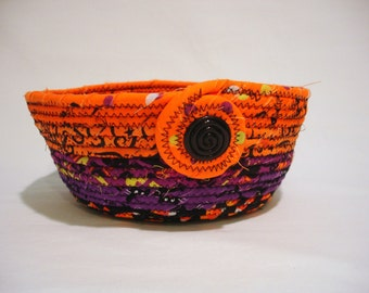 Halloween Coiled Fabric Bowl