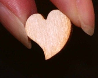 Unfinished Wood Heart Swirl without cutout - 1/2 inches by 1/2 inches and 1/8 inch thick wooden shape (HART28)