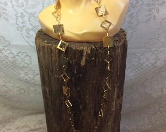 Vintage Gold Geometric Necklace