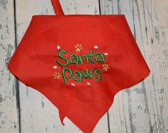 Christmas Dog Bandana - Santa Paws