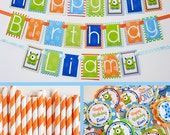 RESERVED for Taylor - Monster Birthday Party Decorations Package Fully Assembled