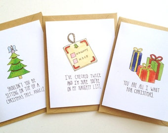 Pickup line Christmas Card Set