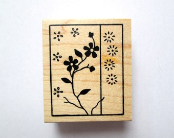 Flower Mounted Rubber Stamp, Flower Stamp, Rubber Stamp, Great Impressions, Asian Stamp