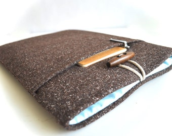 "Surface Book Case, Surface Pro 4 Case, 11""-15"" Custom Sized Laptop Sleeve, Chromebook Sleeve, Padded Wool Blend Laptop Case"