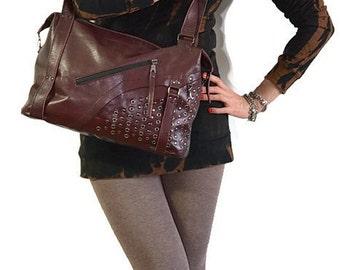 Leather bag - Handbag - Shoulder Bag - Claret bag - Leather - SALE - Bag Large - Everyday Casual - Burgund - Claret - Maroon color - Vinous