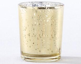 Gold Mercury Glass Tea Light Holders (SET OF 12) wedding decor, party, Bridal party