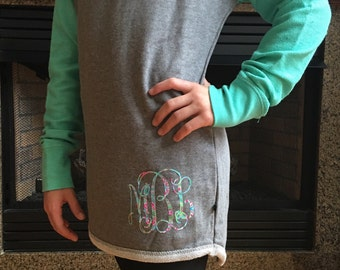 Fleece Sweatshirt Baseball Tee, Monogrammed Sweatshirt