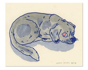 Hand painted Dog Print 05