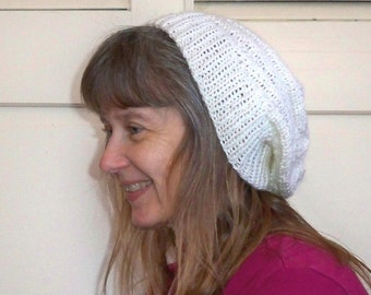 Light-weight antique white hat