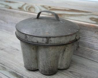Vintage German Tin Pudding Mold