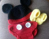 Mickey Mouse hat 3 pc set Costume Photography Prop