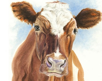 Cow Print | From Original Painting | 5x7 | 8x10 | Wall Art