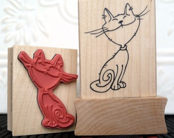 Cheshire Cat rubber stamp from oldislandstamps