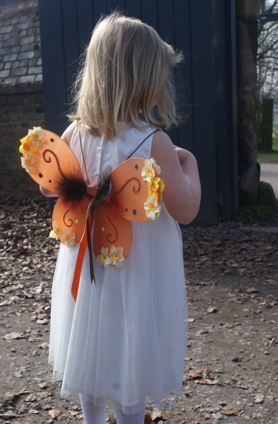 Items similar to SALE Orange fairy wings, child/adult ...