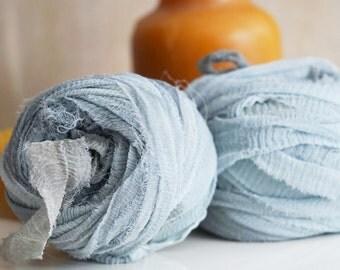 Chiffon Ribbon, Recycled Silk Chiffon Ribbon, Tiebacks, Baby Photography Prop, Wedding Invitations, Bridal Showers, Flowers, Color #5
