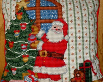 Needlepoint Christmas Pillow Slipcover