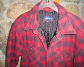 Mens Lumber Jack Quilted Flannel Shirt Jacket 90s Cherokee Large