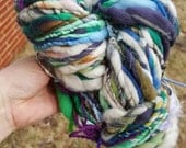 BIG Art Yarn 80 yd 6.5 oz handspun homespun handmade skein. Ooak, lofty super soft and squishy, multicolored yarn.