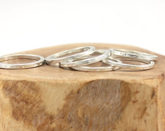 "recycled silver Morse code ""love"" ring 